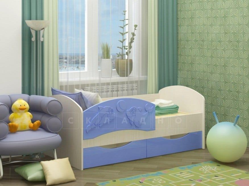 Детская кровать Дельфин-3 МДФ фото 3 | интернет-магазин Складно