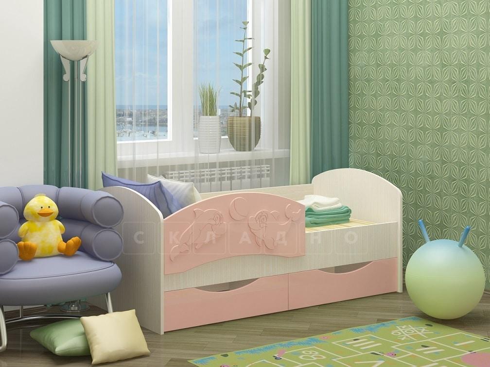 Детская кровать Дельфин-3 МДФ фото 1 | интернет-магазин Складно