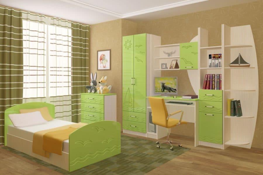 Набор детской мебели Юниор-2 МДФ фото | интернет-магазин Складно