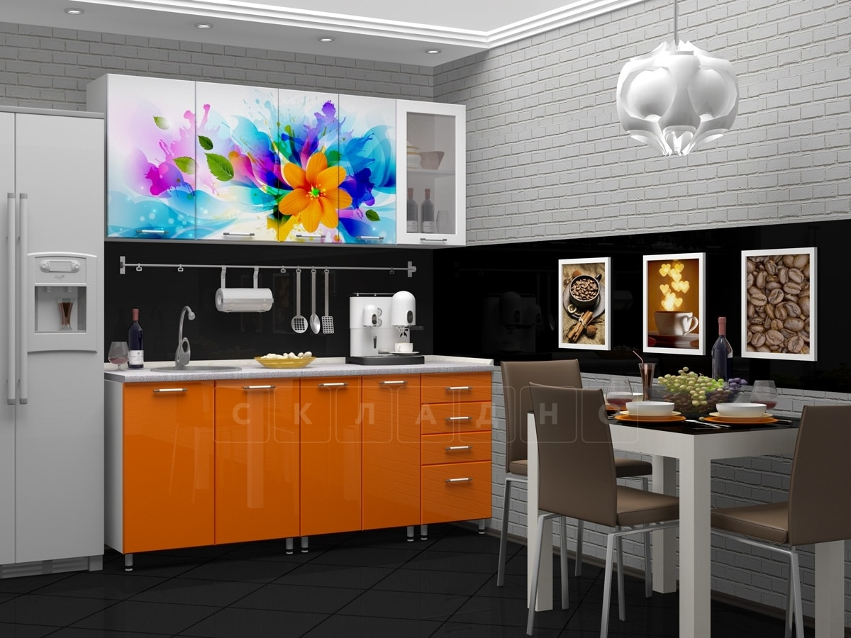 Кухня с фотопечатью Фантазия 1,8м фото 1 | интернет-магазин Складно