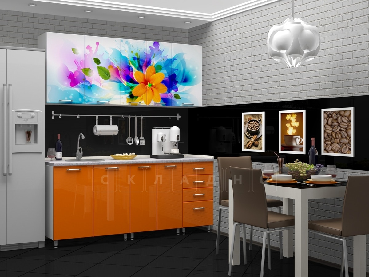 Кухня с фотопечатью Фантазия 1,8м фото 2 | интернет-магазин Складно