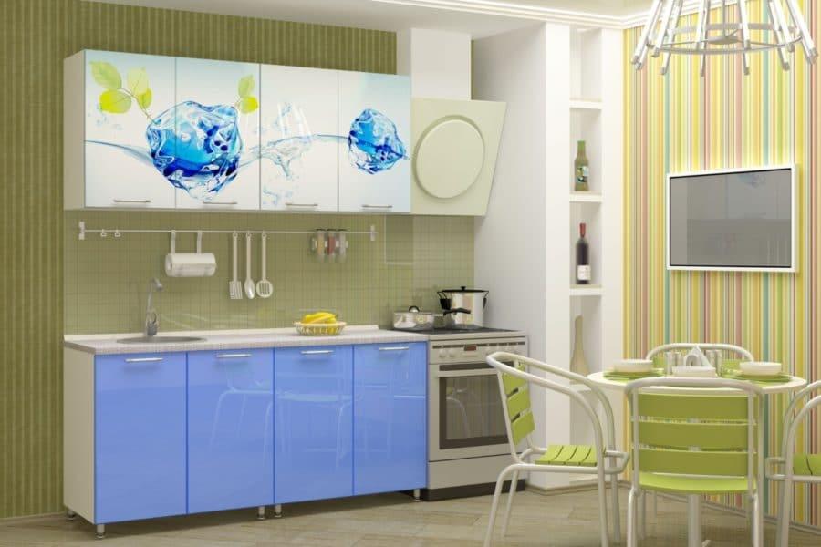 Кухня с фотопечатью Фреш 160см фото | интернет-магазин Складно