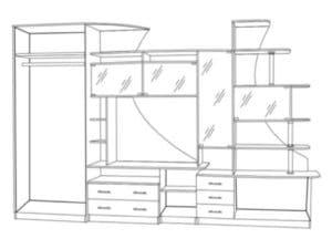 Стенка Гамма-5 с левым шкафом 23950 рублей, фото 2 | интернет-магазин Складно