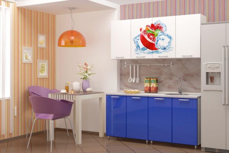 Кухня с фотопечатью Гранат 160см фото | интернет-магазин Складно
