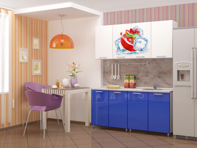Кухня с фотопечатью Гранат 160см фото 1 | интернет-магазин Складно