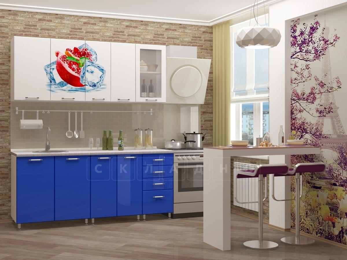 Кухня с фотопечатью Гранат 1,8м фото 1 | интернет-магазин Складно