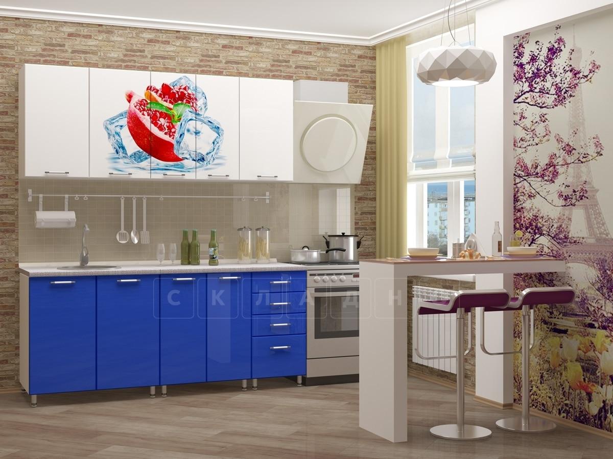 Кухня с фотопечатью Гранат 1,8м фото 2 | интернет-магазин Складно