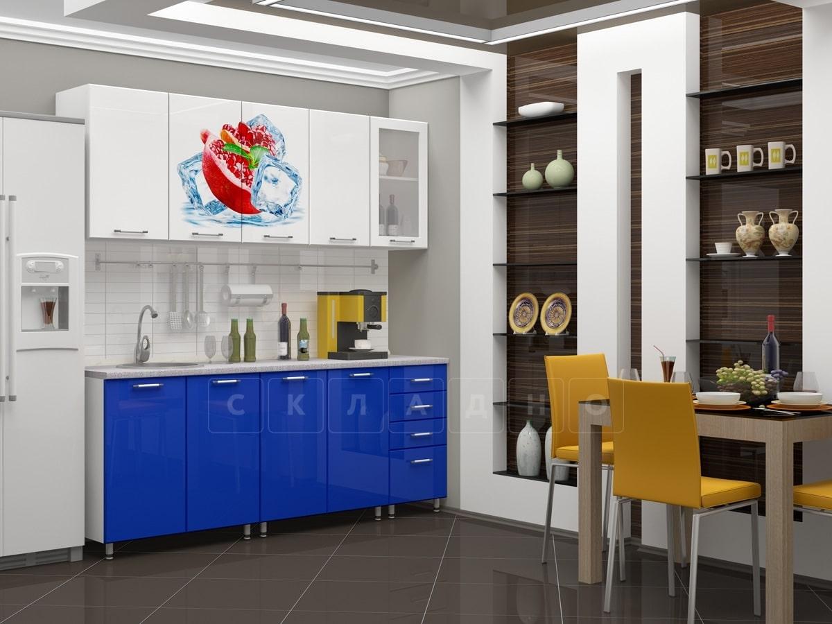 Кухня с фотопечатью Гранат 2,0м фото 1 | интернет-магазин Складно