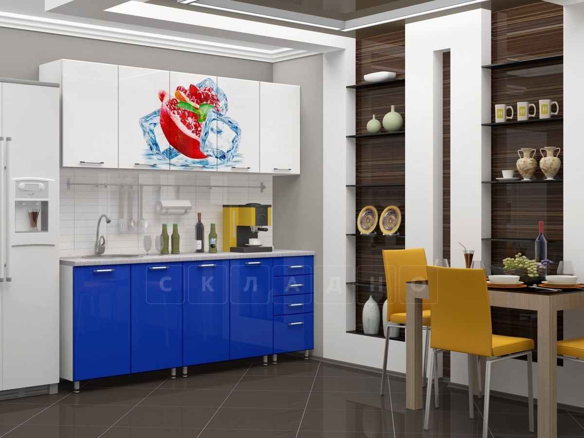 Кухня с фотопечатью Гранат 2,0м фото 2 | интернет-магазин Складно
