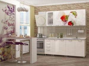 Кухня с фотопечатью Клубника 1,8 м  19670  рублей, фото 1 | интернет-магазин Складно