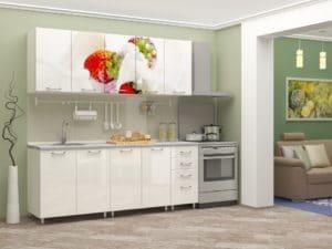 Кухня с фотопечатью Клубника 2,0м 24470 рублей, фото 2 | интернет-магазин Складно