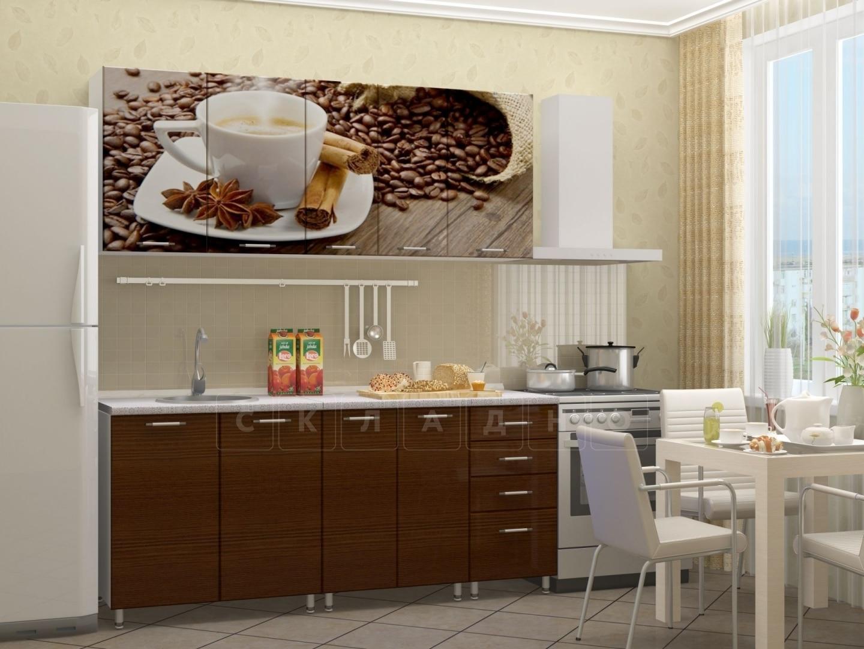 Кухня с фотопечатью Кофе 1,8м фото 2 | интернет-магазин Складно