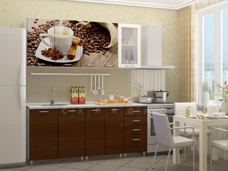 Кухня с фотопечатью Кофе 1,8м фото 1 | интернет-магазин Складно