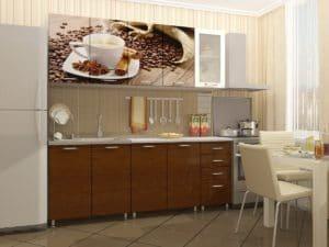 Кухня с фотопечатью Кофе 2,0м  21280  рублей, фото 1 | интернет-магазин Складно