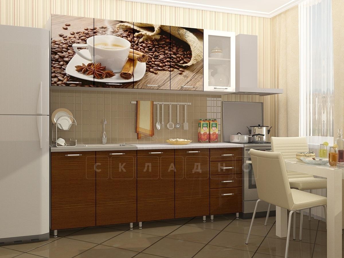 Кухня с фотопечатью Кофе 2,0м фото 1 | интернет-магазин Складно