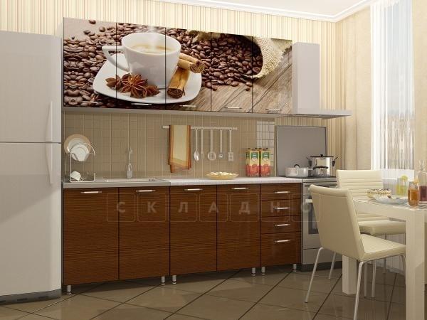 Кухня с фотопечатью Кофе 2,0м фото 2 | интернет-магазин Складно