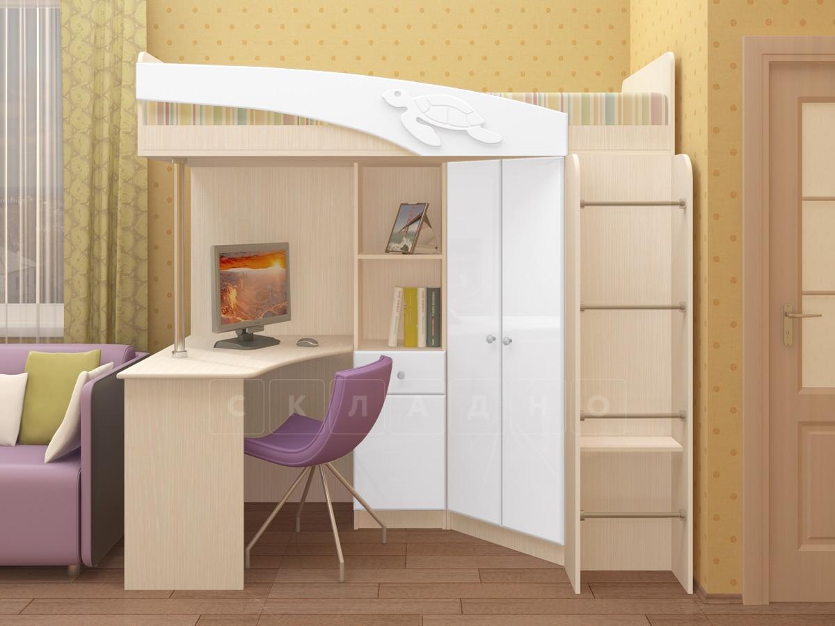 Кровать чердак Бемби с письменным столом фото 7 | интернет-магазин Складно