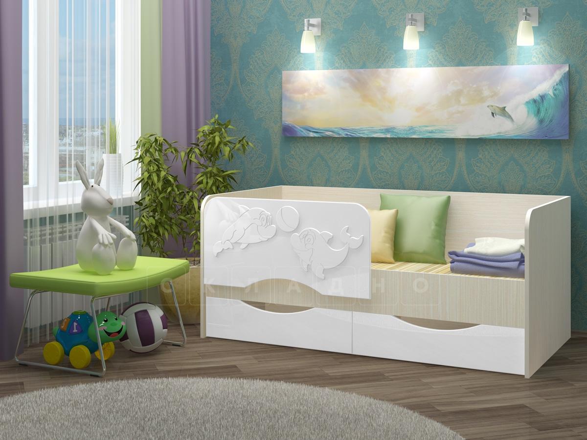 Детская кровать Дельфин-2 МДФ фото 10 | интернет-магазин Складно