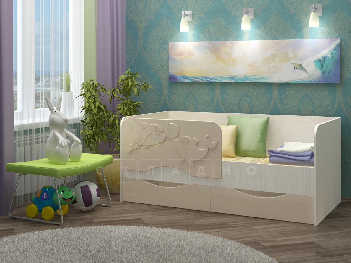 Детская кровать Дельфин-2 МДФ фото 9 | интернет-магазин Складно
