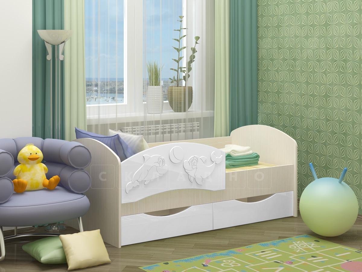 Детская кровать Дельфин-3 МДФ фото 10 | интернет-магазин Складно