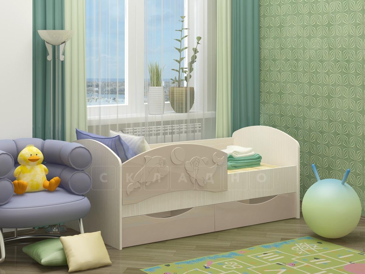 Детская кровать Дельфин-3 МДФ фото 9 | интернет-магазин Складно