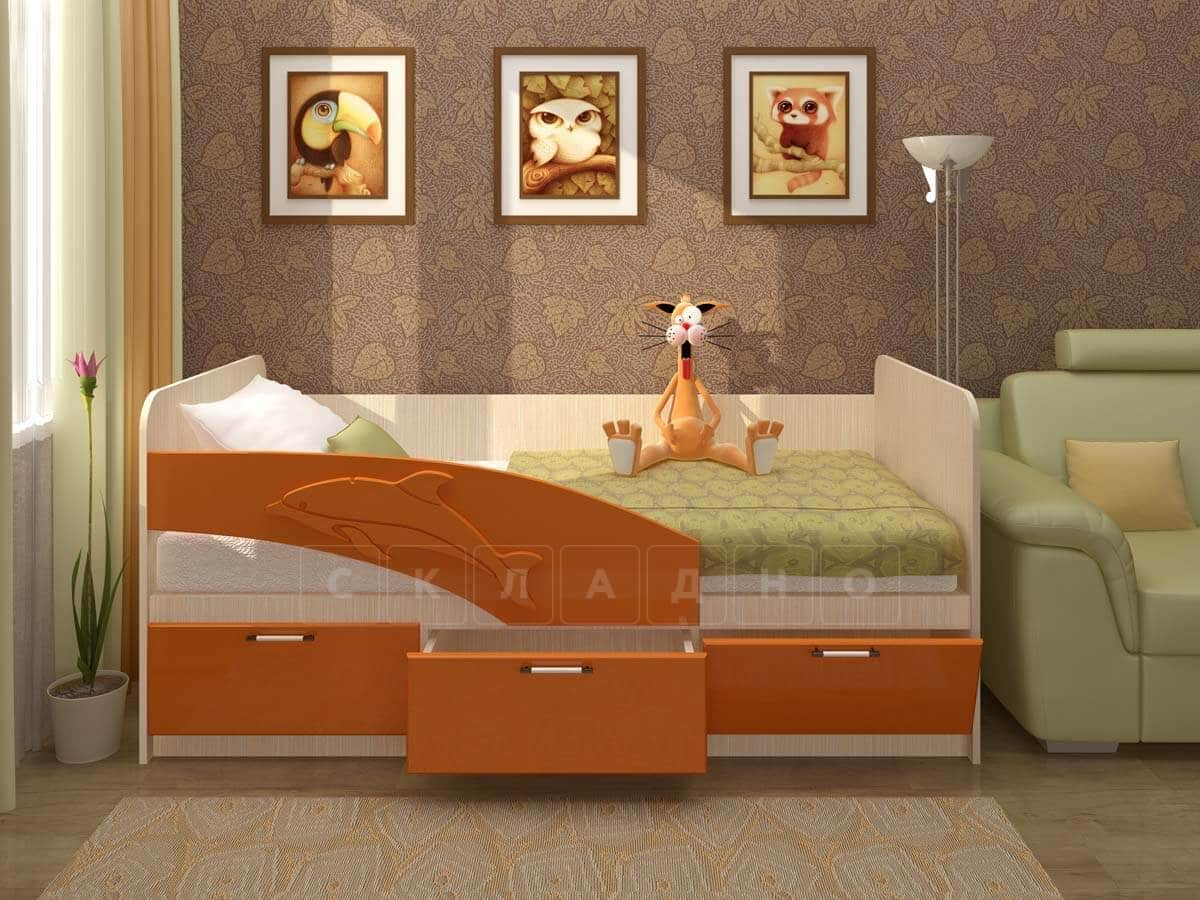 Детская кровать Дельфин 160см фото 2 | интернет-магазин Складно