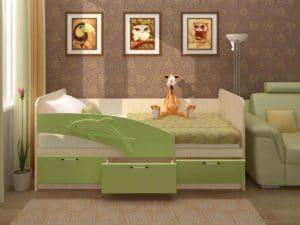 Детская кровать Дельфин 180 см  8340  рублей, фото 1 | интернет-магазин Складно