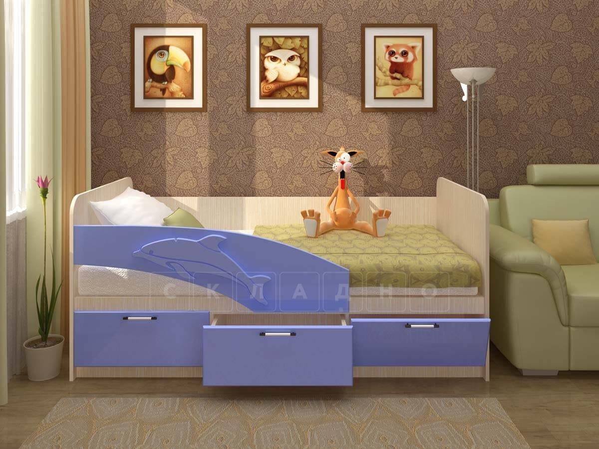 Детская кровать Дельфин 160см фото 5 | интернет-магазин Складно