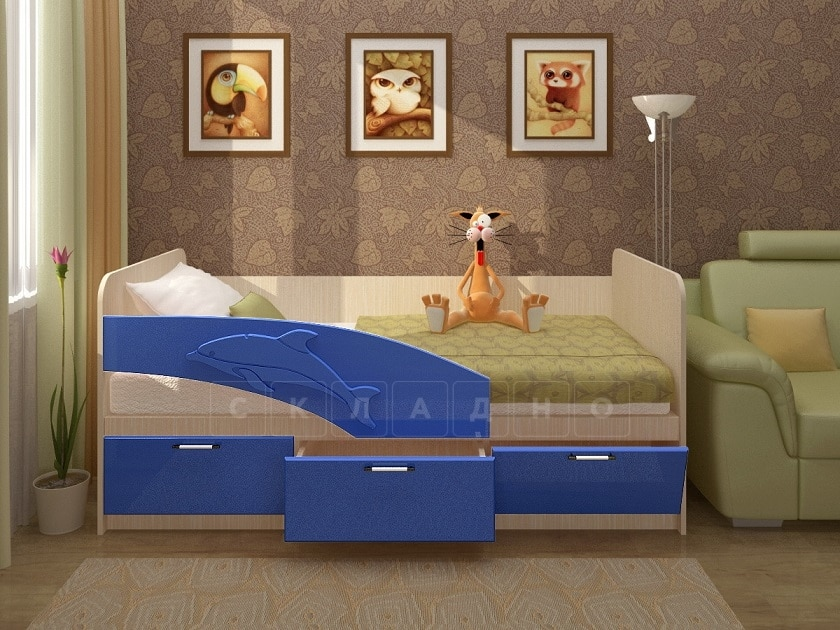 Детская кровать Дельфин 160см фото 6 | интернет-магазин Складно