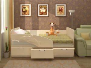 Детская кровать Дельфин 160см 5790 рублей, фото 1 | интернет-магазин Складно