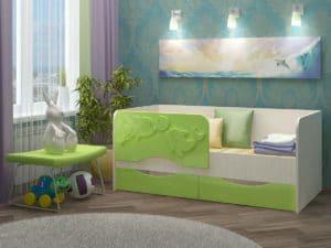 Детская кровать Дельфин-2 МДФ 5190 рублей, фото 8 | интернет-магазин Складно