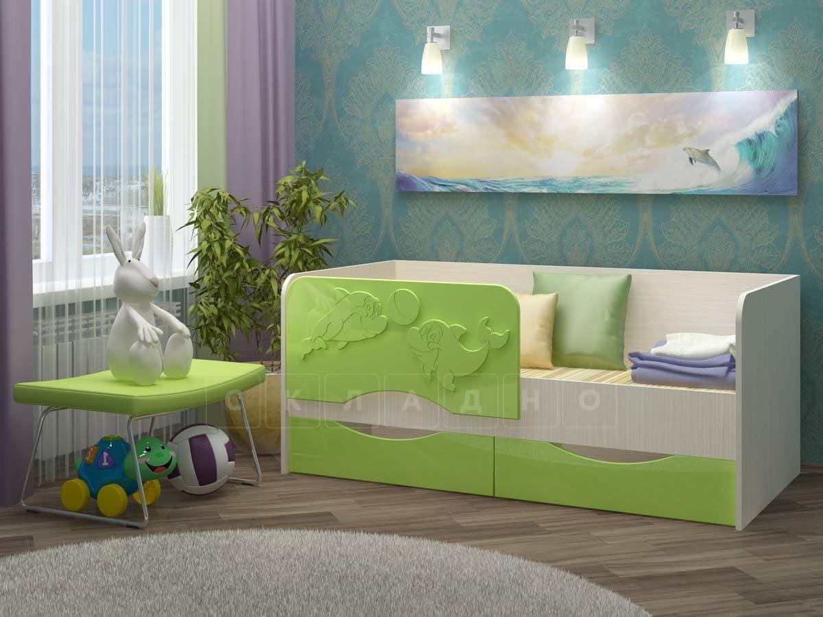 Детская кровать Дельфин-2 МДФ фото 8 | интернет-магазин Складно