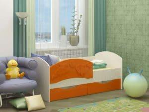 Детская кровать Дельфин-3 МДФ 6870 рублей, фото 4 | интернет-магазин Складно