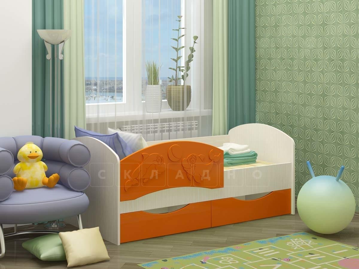Детская кровать Дельфин-3 МДФ фото 4 | интернет-магазин Складно