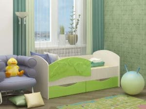 Детская кровать Дельфин-3 МДФ 6870 рублей, фото 5 | интернет-магазин Складно