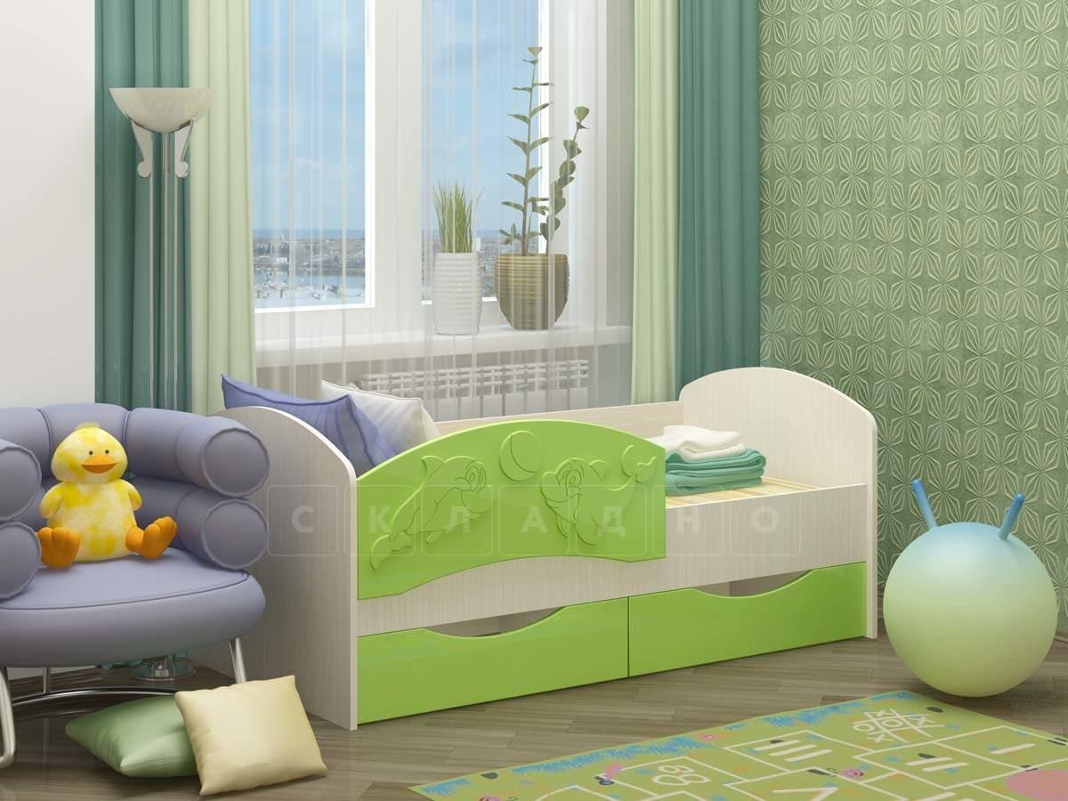 Детская кровать Дельфин-3 МДФ фото 5 | интернет-магазин Складно