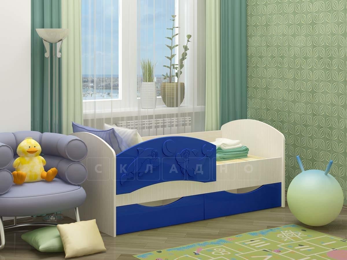 Детская кровать Дельфин-3 МДФ фото 6 | интернет-магазин Складно