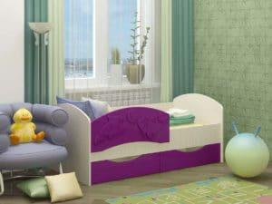 Детская кровать Дельфин-3 МДФ фото 2 | интернет-магазин Складно