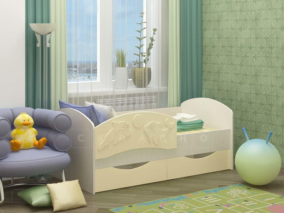 Детская кровать Дельфин-3 МДФ фото 7 | интернет-магазин Складно