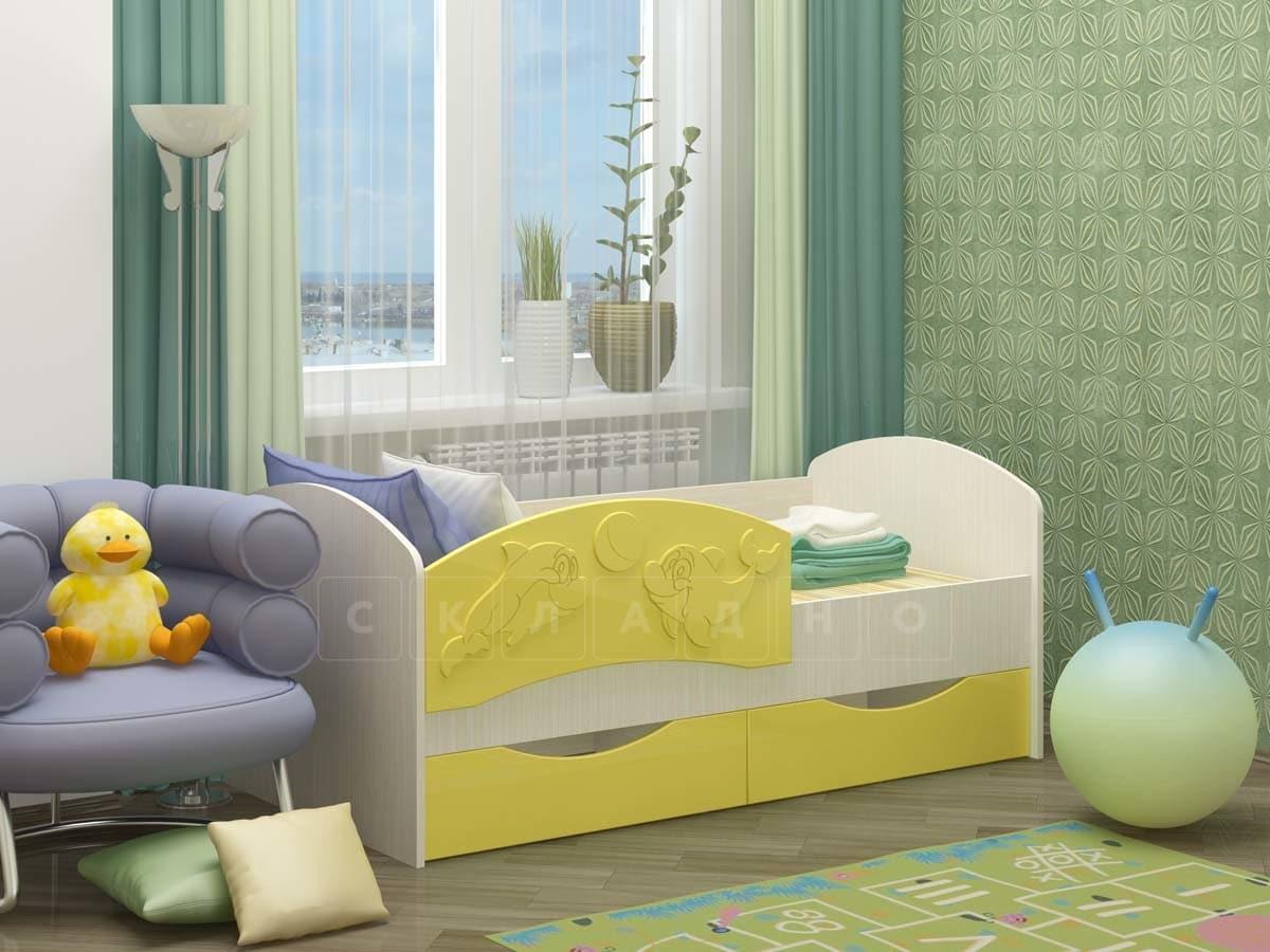 Детская кровать Дельфин-3 МДФ фото 8 | интернет-магазин Складно