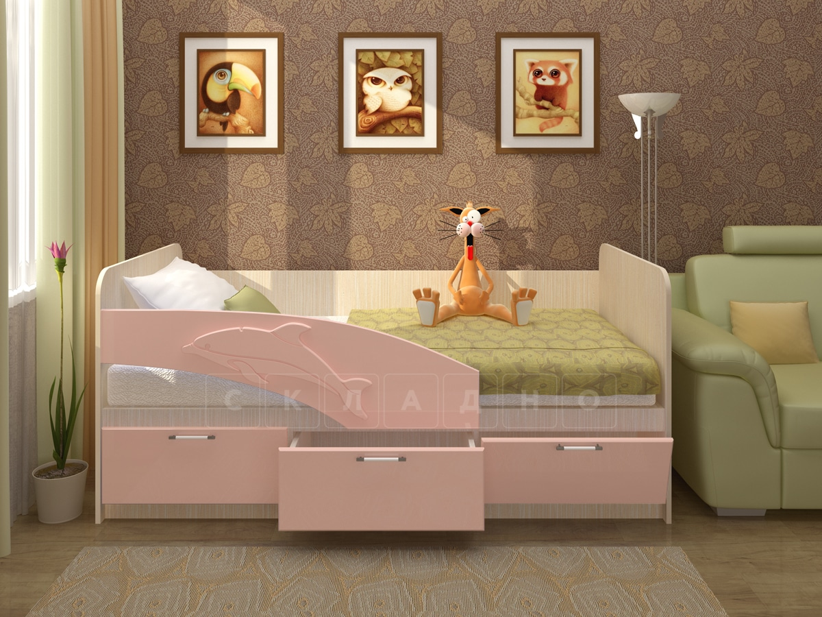 Детская кровать Дельфин 180 см фото 2 | интернет-магазин Складно