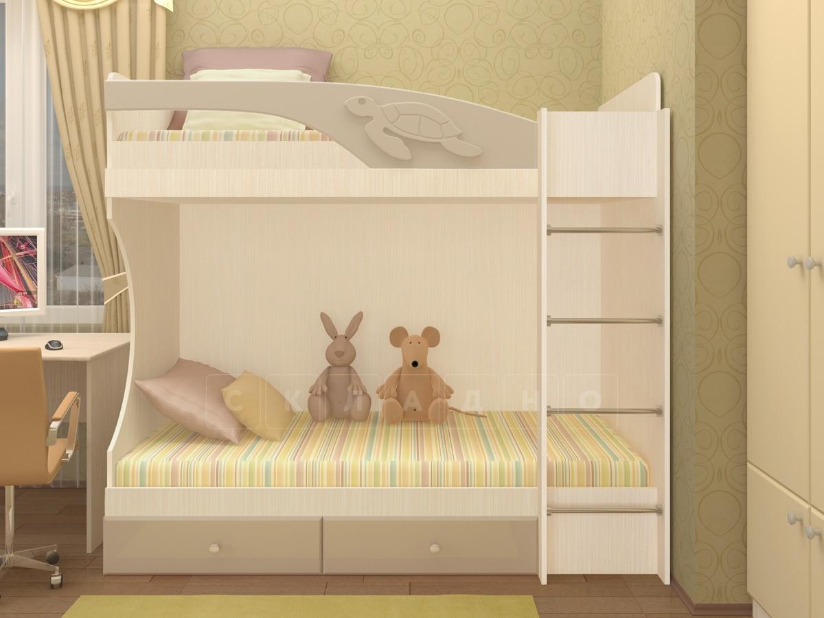 Двухъярусная кровать Бемби с ящиками фото 8 | интернет-магазин Складно