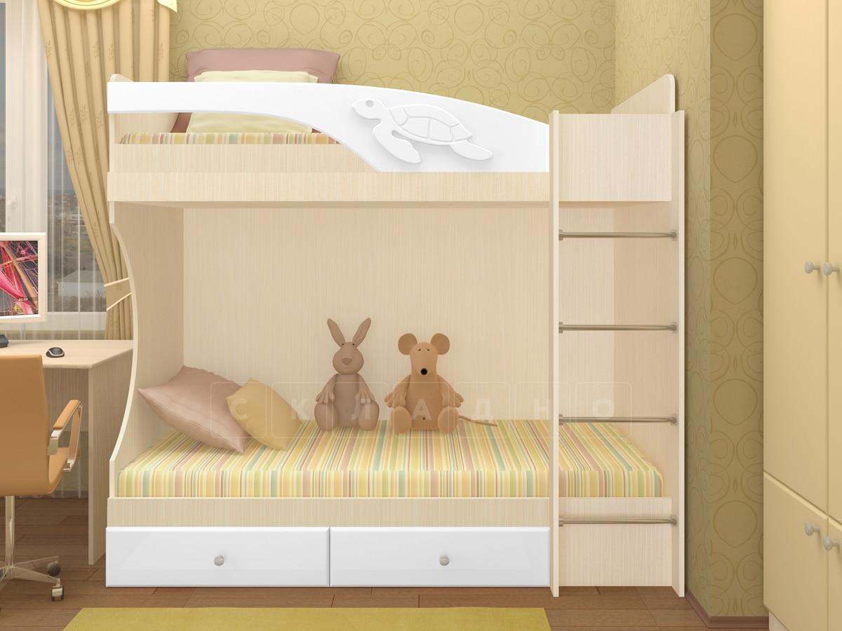 Двухъярусная кровать Бемби с ящиками фото 7 | интернет-магазин Складно