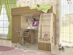 Кровать-чердак Мика 18250 рублей, фото 4   интернет-магазин Складно