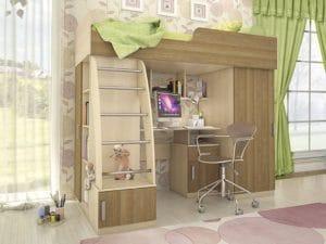 Кровать-чердак Мика 19160 рублей, фото 2 | интернет-магазин Складно
