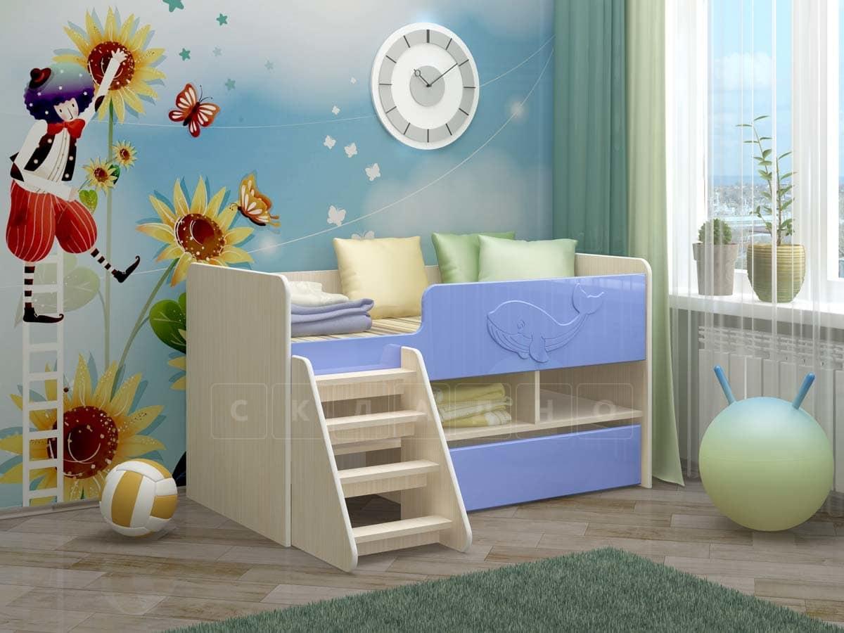 Детская кровать Юниор-3 МДФ фото 4 | интернет-магазин Складно