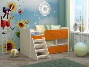 Детская кровать Юниор-3 МДФ фото | интернет-магазин Складно