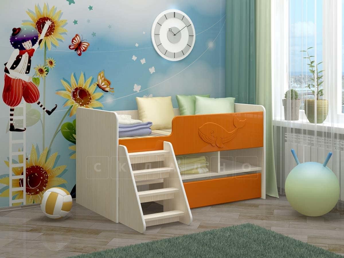 Детская кровать Юниор-3 МДФ фото 1 | интернет-магазин Складно