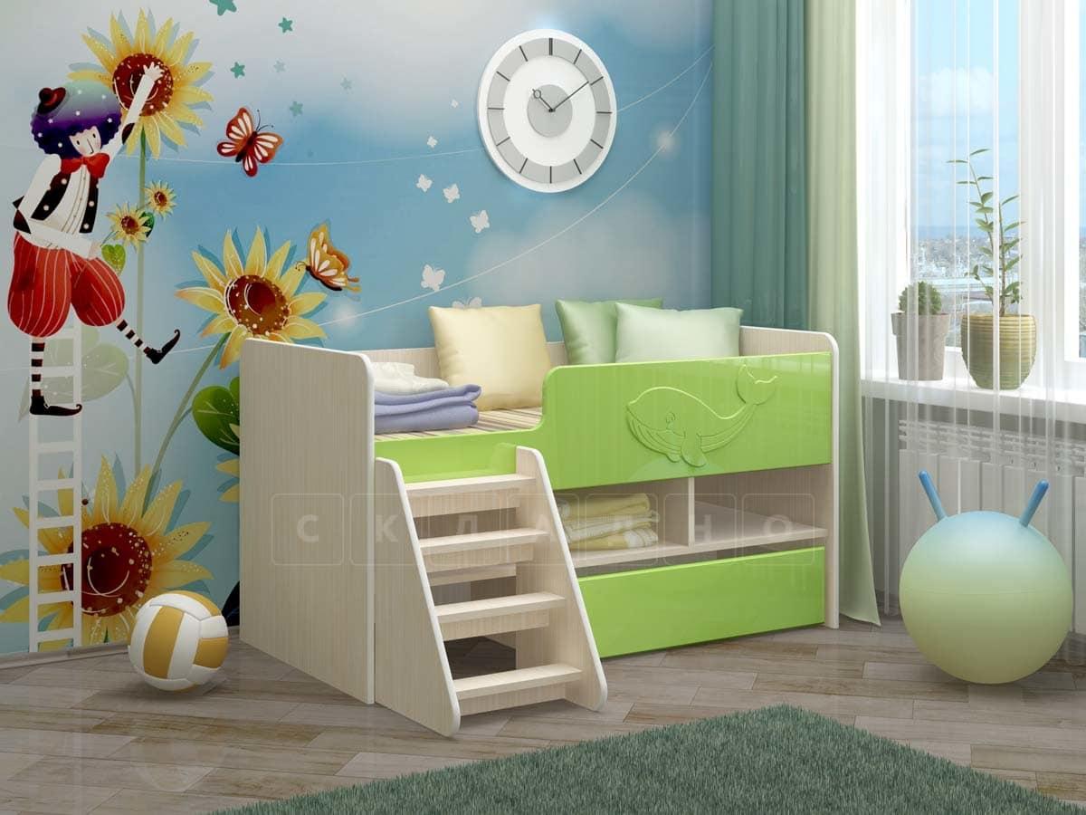 Детская кровать Юниор-3 МДФ фото 5 | интернет-магазин Складно