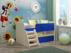 Детская кровать Юниор-3 МДФ 9420 рублей, фото 6 | интернет-магазин Складно